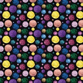 Metallic Polka Dots on Black #2
