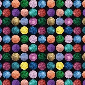 Metallic Polka Dots on Black #3