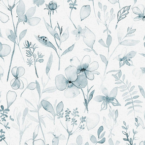 Spring Floral meadow, blue