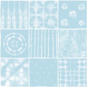 Shibori mix light blue