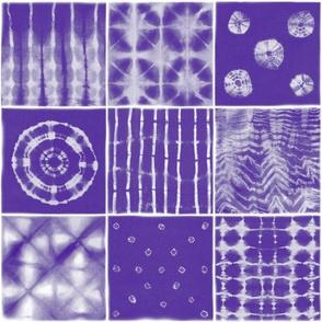 Shibori mix dark purple
