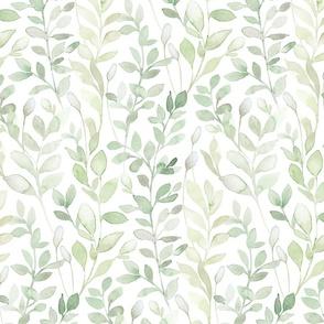 Midsummer / Leaves in light green - medium scale