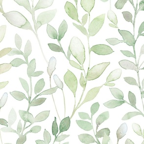 Midsummer / Leaves in light green - large scale