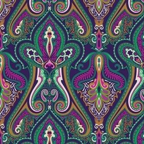 Vintage Paisley Green&Violet