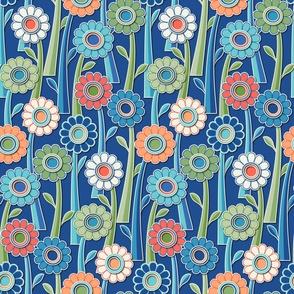 Paper Cut Gerber Daisies - Blue, Green, Coral, Salmon, Peach, Ivory