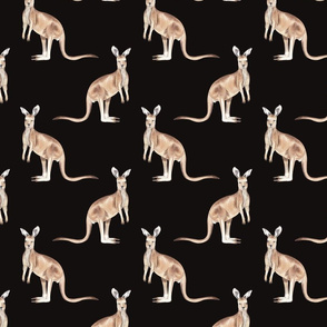 Kangaroo Pattern Dark