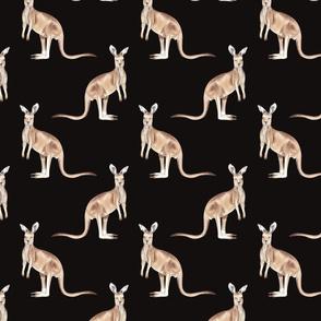 Kangaroo Pattern Dark
