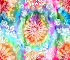 Botanical Watercolor Tie Dye