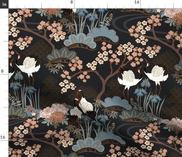 Blumen Tischdecke Oriental Garden Kunstmotive