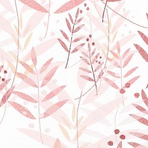 Textured Red Flora