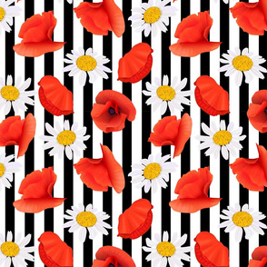 poppy and chamomile pattern