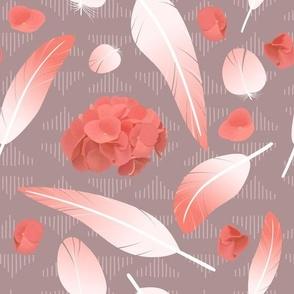 pink feathers pattern45454