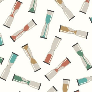 Hourglasses in Muted Colors