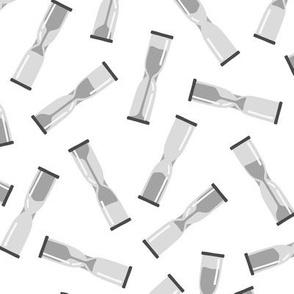 Hourglasses in Grey