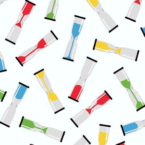 Hourglasses in Bright Colors