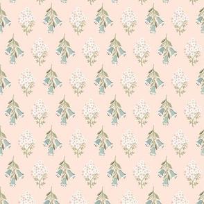 Diamond Flowers: Aqua on Pink