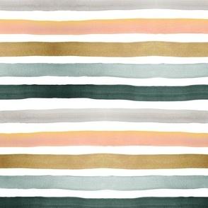 ombre stripe - peach greem gold gray blue
