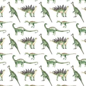 Green Dino White