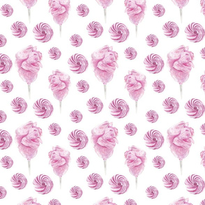 Cotton Candy And Marshmallow Pattern