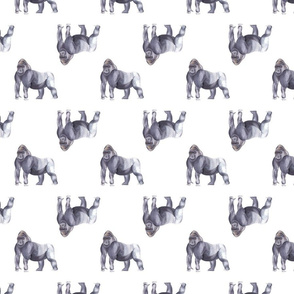 Gorilla Pattern White