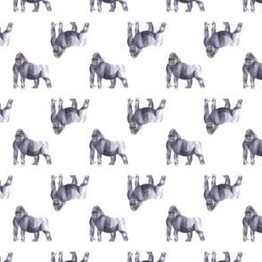 Gorilla Pattern White