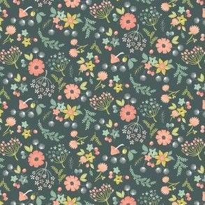Woodland Floral: Teal