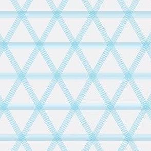 Triangle Checks Blue and Grey
