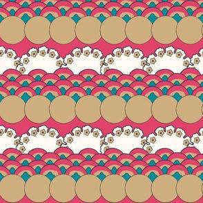 Floral Waves - Azalea (Large)