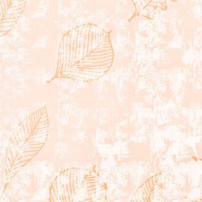 Orange Leaves - Faux Textured Wallpaper