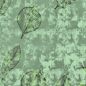 Leaves - Green textured pattern