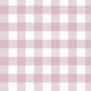 ".75"" Mulberry Gingham: Pastel Dusty Purple Gingham Check"
