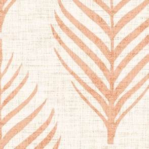 Linen Palm Frond in Apricot