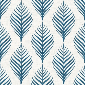 Linen Palm Frond in French Blue