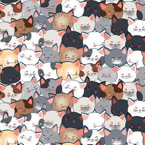 Multicolored Cat Crowd small scale © Jennifer Garrett