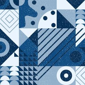 Bauhaus blocks - blues
