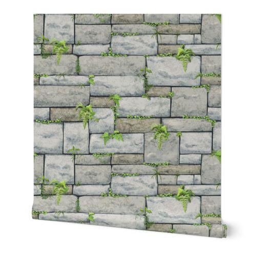 Gray Stone Wall Large