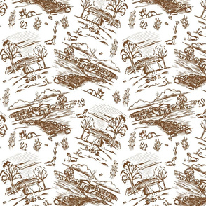 Off the Grid Brown Toile