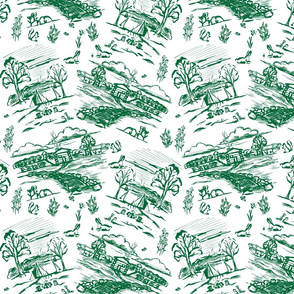 Off the Grid Green Toile