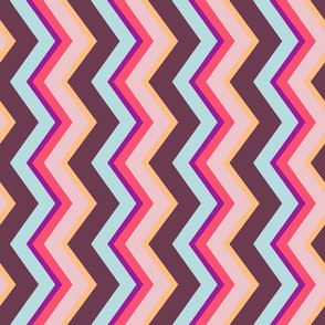 Sultry Stripes: Marseille Sideways Chevrons (Smaller Band Width)