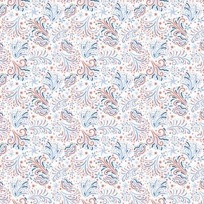 Celebrate | Coral Blues on white