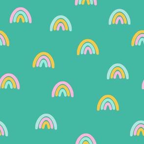 Pastel rainbow on tur