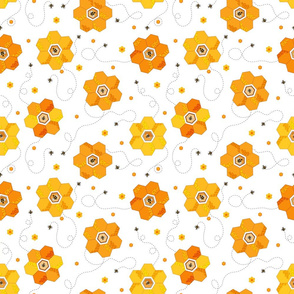 Honey Bee Flowers2-SM
