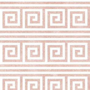 Greek key stripes -  pink  - LAD20