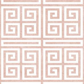 Greek key -  pink  - LAD20