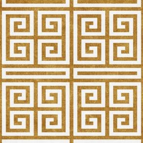 Greek key  - mustard - LAD20