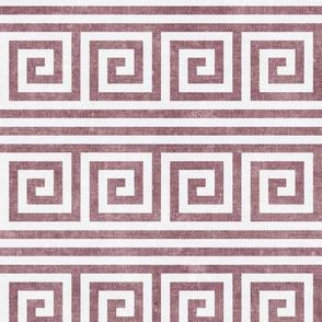 Greek key stripes - mauve - LAD20