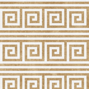 Greek key stripes - golden ecru - LAD20