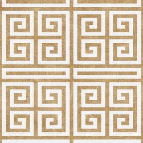 Greek key  - golden ecru - LAD20