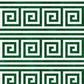 Greek key stripes - kelly green - LAD20