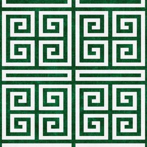 Greek key  - kelly green - LAD20